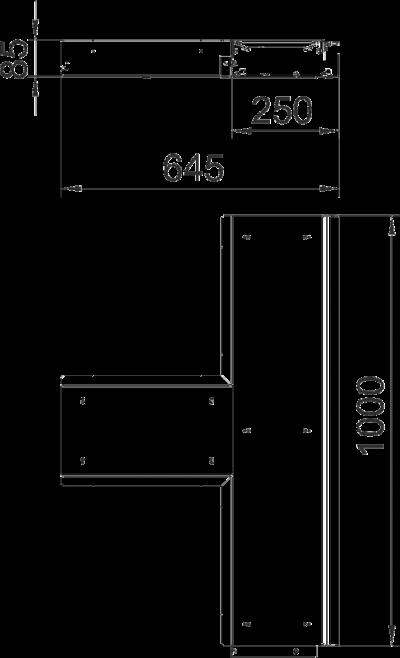 Схема Т-образная секция, без реглуируемых опор — арт.: 7403836