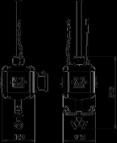 Схема Блок питания VH-4, с 3 розетками с заземляющим стержнем и 1 розеткой CEE 16 A, с соединением для пневматического рукава — арт.: 6109818
