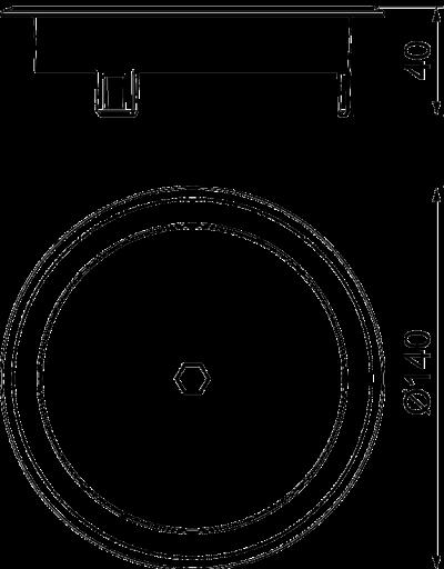 Схема Лючок GES R2 с глухой крышкой, из литого цинка, с латунным покрытием — арт.: 7408872