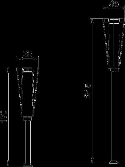 Схема Регулируемая опора крышки, для каналов высотой 170 — 245 мм — арт.: 7424846