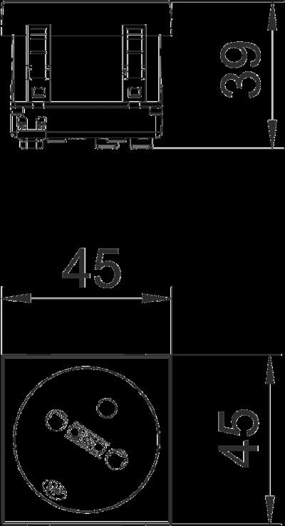 Схема Розетка 33° с заземляющим стержнем, одинарная — арт.: 6120222