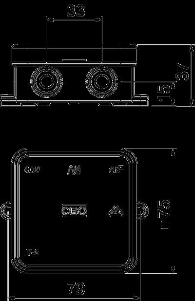 Схема Распределительная коробка А8 — арт.: 2000016
