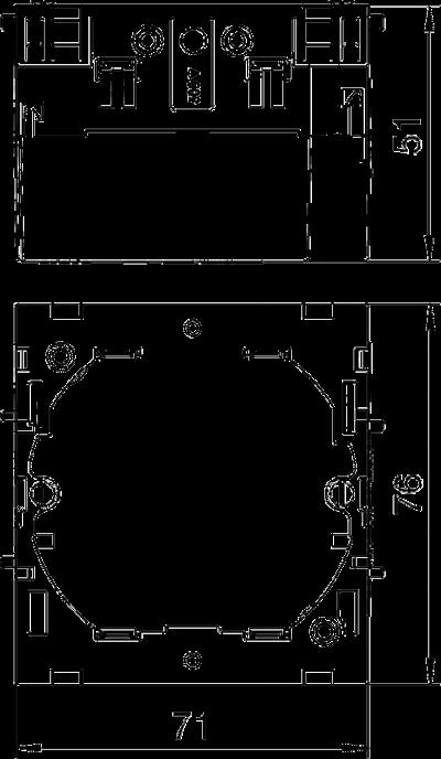 Схема Монтажная коробка одинарная — арт.: 6288610