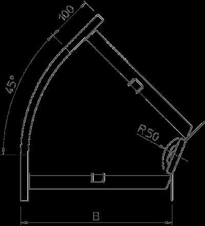Схема Угловая секция 45° 100-300 мм — арт.: 7000634