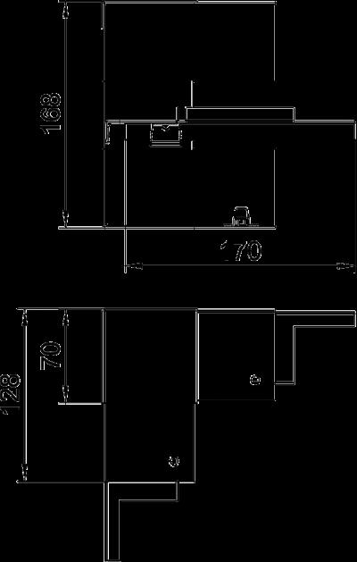 Схема Внутренний угол для кабельного короба высотой 70 мм — арт.: 6277640