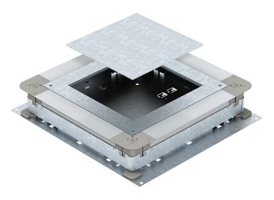 Монтажное основание UZD250-3 с отверстием для прямоугольного лючка, для стяжки высотой 70 — 125 мм — арт.: 7410079