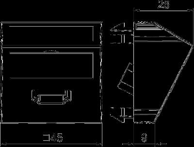 Схема Мультимедийная рамка с разъемом HDMI, ширина 1 модуль, с наклонным выводом, для винтового соединения — арт.: 6104814