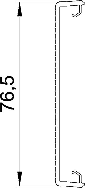 Схема Крышка кабельного короба Rapid 80 рифленая — арт.: 6278780