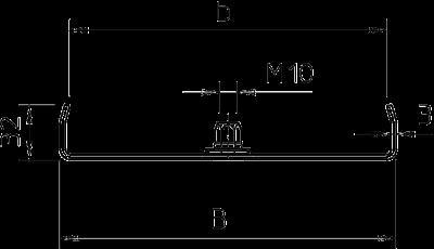 Схема Центральный потолочный подвес, для кабельных лотков с боковой стенкой высотой 35 мм — арт.: 6358690