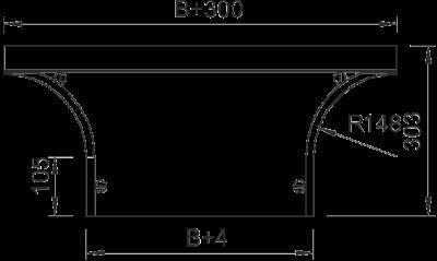 Схема Крышка Т-образного/крестового соединения 400-600 мм — арт.: 7128509