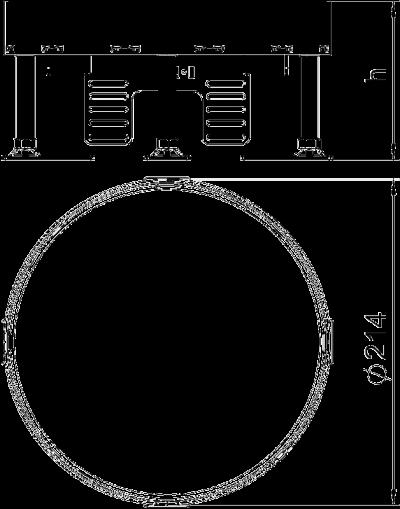 Схема Регулируемый ревизионный люк RKR, из нержавеющей стали — арт.: 7409088