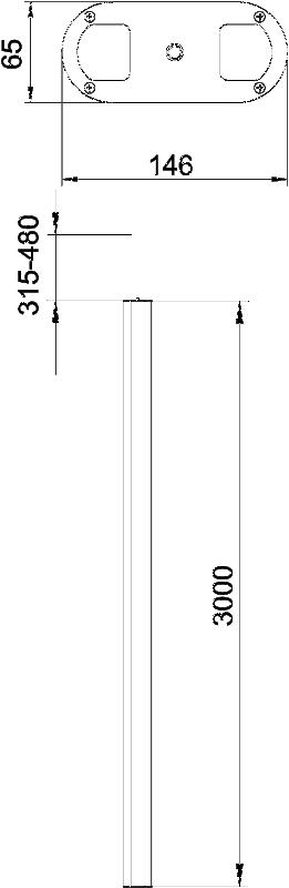 Схема Алюминиевая электромонтажная колонна ISSOG70140 — арт.: 6289088