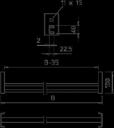 Схема Перекладина CK 40 — арт.: 6008224
