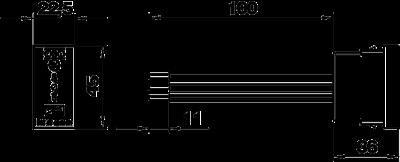 Схема Модуль высокочувствительной защиты Modul 45 для монтажа в плинтусных кабельных коробах — арт.: 6117473
