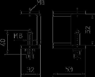 Схема Фиксатор для кабельного лотка лестничного типа — арт.: 6221071