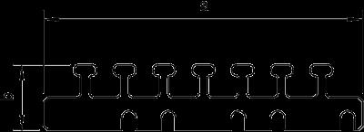 Схема Кабельный держатель для короба шириной 150 мм — арт.: 6249965