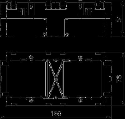 Схема Монтажная коробка двойная — арт.: 6288611