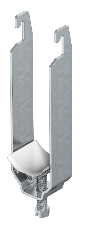 Зажимная скоба 3-секционная, с пластиковой прижимной пластиной — арт.: 1177125
