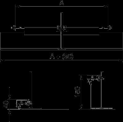 Схема Торцевая заглушка кабельного канала, высота 40 — 150 мм — арт.: 7424280