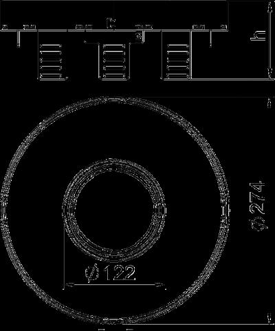 Схема Регулируемая кассетная рамка RKFRNUZD3 для тубуса, из нержавеющей стали — арт.: 7409446