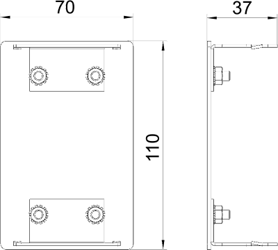 Схема Алюминиевая торцевая заглушка — арт.: 6279273
