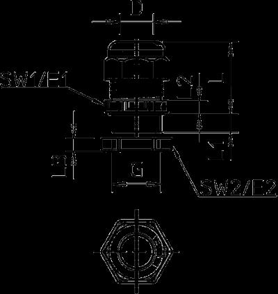 Схема Огнестойкий кабельный ввод с глухой гайкой — арт.: 7205660