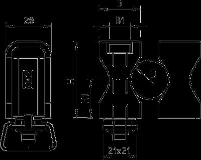 Схема Винтовая скоба, ширина шлица 16 — 17 мм — арт.: 2255014