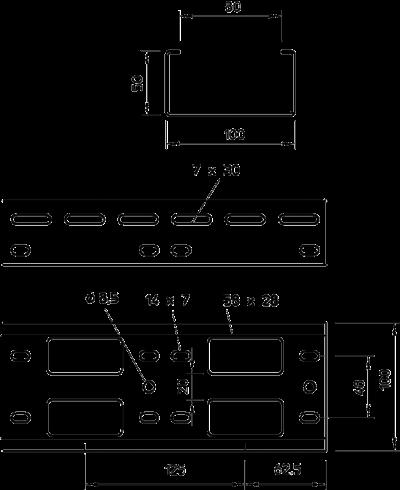 Схема Мини-канал AZ 100 — арт.: 6076246