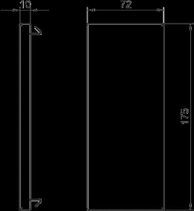 Схема Торцевая заглушка для кабельного короба высотой 70 мм — арт.: 6277670