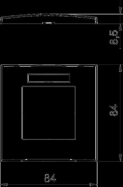 Схема Рамка AR45 одинарная, с полем для надписи, для вертикальной установки устройств — арт.: 6119338
