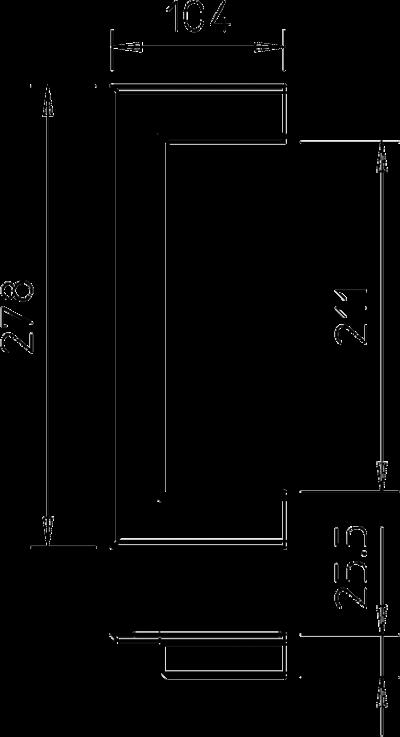 Схема Настенная торцевая заглушка из ПВХ, открытая, для кабельных коробов 70210 — арт.: 6274840