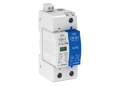 Разрядник для защиты от перенапряжений 1-полюсный + NPE, с дистанционной сигнализацией — арт.: 5094760