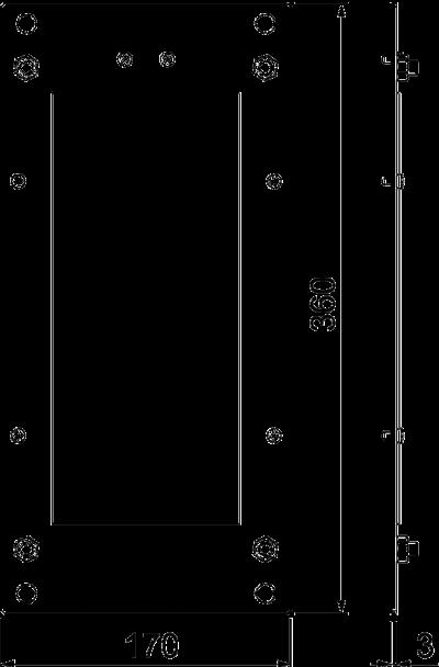 Схема Пластина для редукционной Т-образной секции — арт.: 7216469