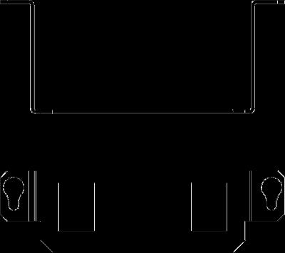 Схема Суппорт для 2х телекоммуникационных модулей типа А — арт.: 7407594