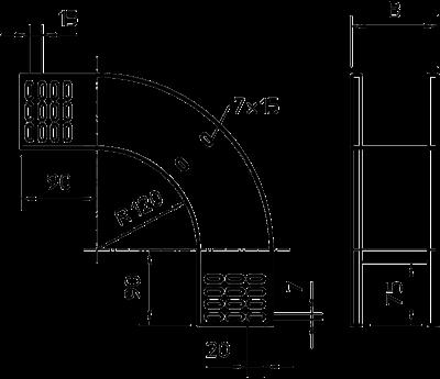 Схема Вертикальная угловая секция 90° нисходящая — арт.: 7007270