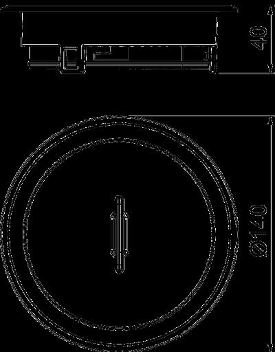 Схема Лючок GES R2 с тубусом и ручкой, из литого цинка, никелированный — арт.: 7408860