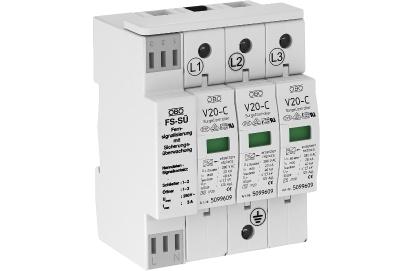 Разрядник для защиты от перенапряжений 3-полюсный, с сигнализацией о перегорании предохранителей — арт.: 5096251