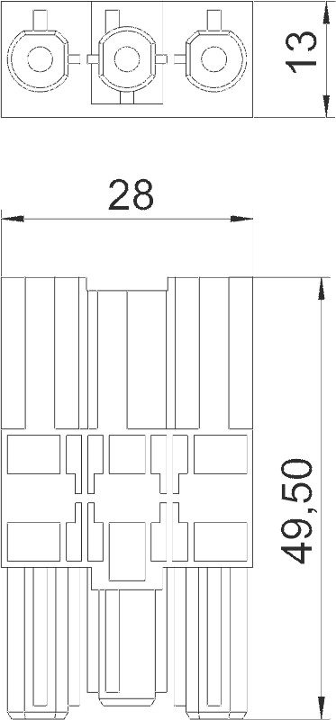 Схема Соединительный адаптер GST 18i, прямой — арт.: 6108045