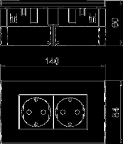 Схема Розетка AR45, двойная — арт.: 6119407