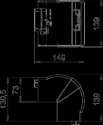 Схема Крышка внешнего угла, регулируемая — арт.: 6274410