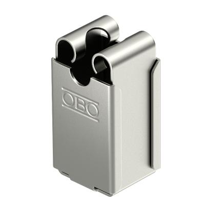 Высокий безболтовой держатель для круглых проводников Rd 8, со сквозным отверстием Ø 5 мм — арт.: 5207342