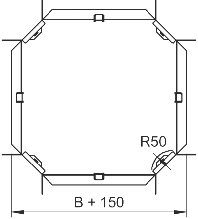 Схема Крестообразная секция 100-300 мм — арт.: 6043615