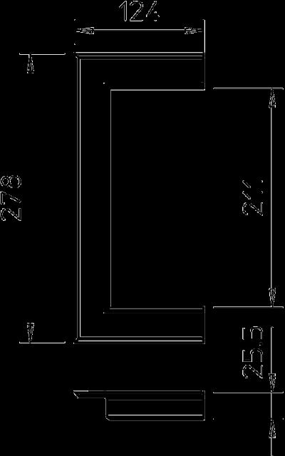 Схема Настенная торцевая заглушка из ПВХ, открытая, для кабельных коробов 90210 — арт.: 6274940