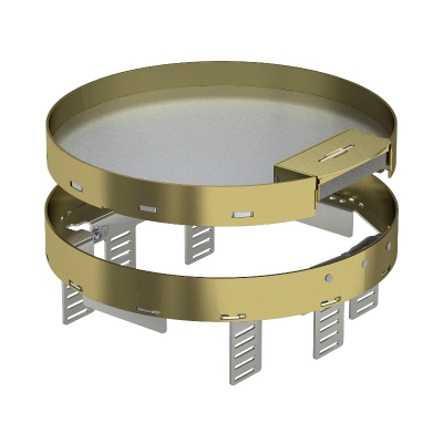Регулируемая кассетная рамка RKSRNUZD3 с кабельным выводом, из латуни — арт.: 7409292