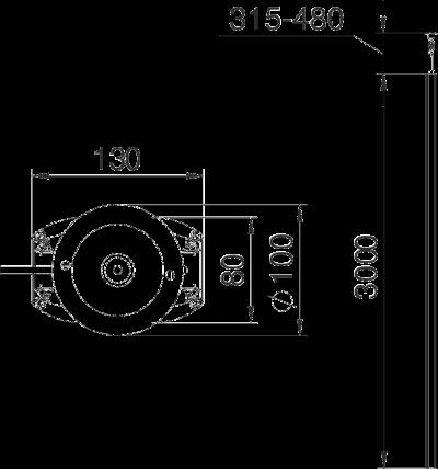 Схема Алюминиевая электромонтажная колонна ISSDM45 — арт.: 6289972