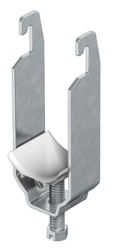 Зажимная скоба 2-секционная, с пластиковой прижимной пластиной — арт.: 1176129