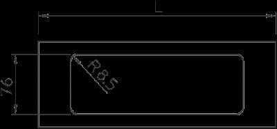 Схема Крышка с отверстием для тройной монтажной коробки, для кабельного короба высотой 110 мм — арт.: 6169430