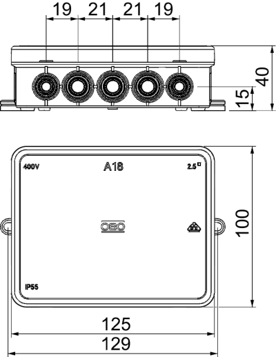 Схема Распределительная коробка А18 — арт.: 2000410