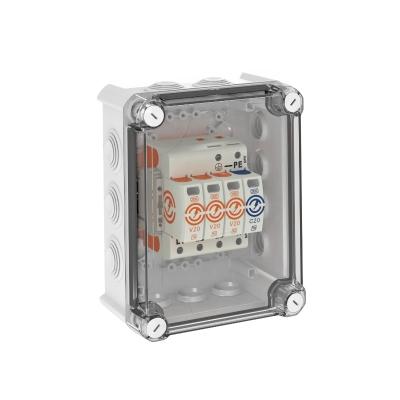 Системное решение: разрядник для защиты от перенапряжений V20 в корпусе, 3-полюсный + NPE — арт.: 5095383