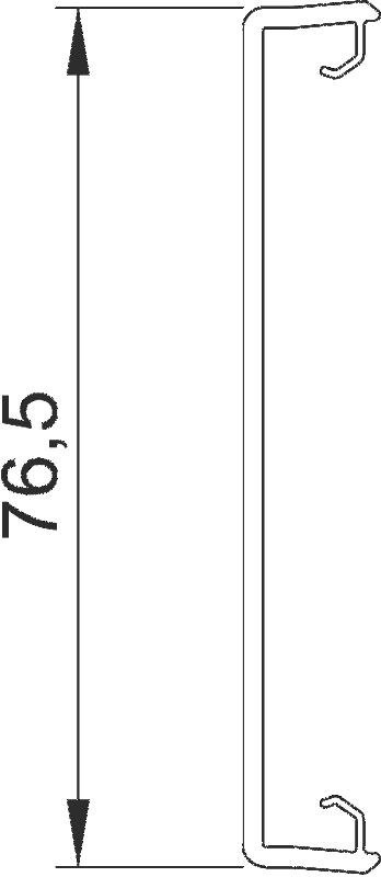 Схема Крышка кабельного короба Rapid 80, опалового цвета, гладкая — арт.: 6278690